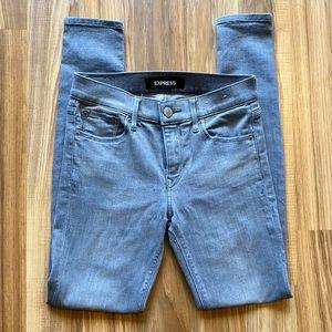 Express Gray Stretch Legging Jeans